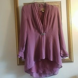 Midnight velvet high and low beautiful blouse 6